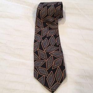 Christian Dior monsieur silk necktie made in USA